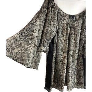 Hot & Delicious • Snake Print Blouse